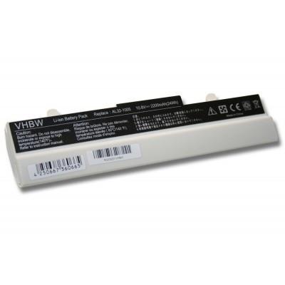 Asus AL31-1005, AL32-1005 Eee PC 1001 / 1005 / 1101 / R105 / R105 utángyártott laptop akkumulátor akku - 2200mAh (11.1V) fehér