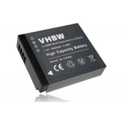 Panasonic DMW-BLH7  utángyártott digitális fényképezőgép akkumulátor akku 600mAh (7.2V)
