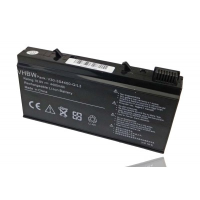 V30-3S4400-G1L3, V30-3S4400-M1A1, V30-3S4400-M1A2, V30-3S4400-M1S2 utángyártott laptop akkumulátor akku - 4400mAh (11.1V) fekete