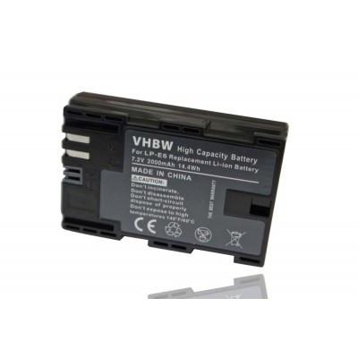 Canon LP-E6 utángyártott digitális fényképezőgép akkumulátor akku 2000mAh (7.2V) with info chip