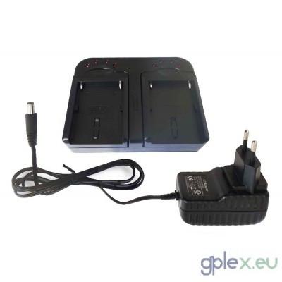Sony dupla NP-FM50, NP-F550 etc. kompatibilis töltő készlet