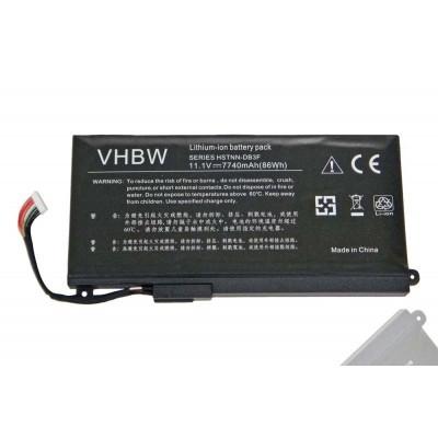 HP HSTNN-DB3F, HSTNN-IB3F Envy 17-3000 / 17T-3000 utángyártott laptop akkumulátor akku - 7740mAh (11.1V) fekete