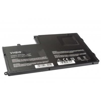 Dell 1V2F6 utángyártott laptop akkumulátor akku - 3870mAh (11.1V) fekete