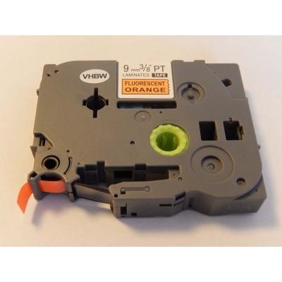 Brother TZe-B21  P-Touch utángyártott feliratozószalag kazetta 9mm * 8m neon-narancssárga alapon fekete