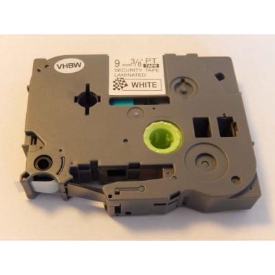 Brother TZe-SE2 utángyártott (TZe-SE2) fekete-fehér 9mm * 8m extra erős tapadású biztonsági szalag