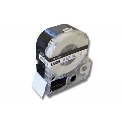 Epson LC-6WBN  utángyártott feliratozószalag kazetta 24 mm * 8m fehér alapon fekete nyomtatás