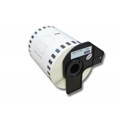Brother DK-22243 utángyártott öntapadós fehér etikett papírszalag 102 mm széles 30.48 m hosszú