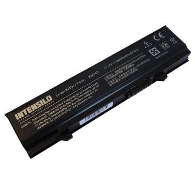 Dell KM668 Latitude E5400 E5410 E5500 E5510 utángyártott laptop akkumulátor akku - 6000mAh (10.8V) fekete