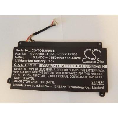 Toshiba PA5208U-1BRS utángyártott laptop akkumulátor akku - 3850mAh (10.8V) fekete