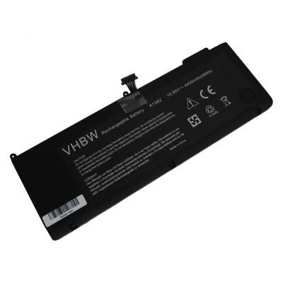 Apple A1382 MacBook Pro 15 2011/2012 utángyártott laptop akkumulátor akku - 4400mAh (10.95V) fekete