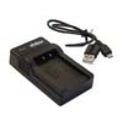 Fuji NP-40, 60, 95, 120 stb. kompatibilis micro USB akkumulátor töltő