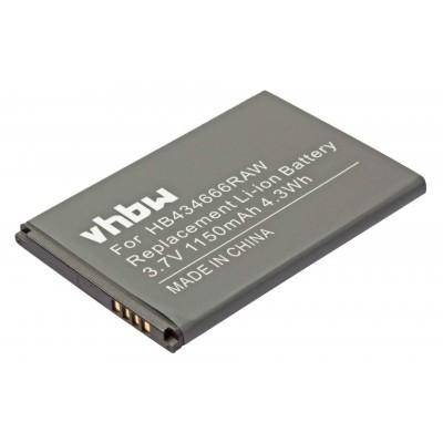 Huawei E5573 stb. HB434666RAW utángyártott wireless router akkumulátor akku - 1150mAh (3.7V)