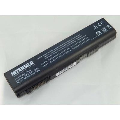 Intensilo Toshiba PA3788U-1BRS utángyártott laptop akkumulátor akku - 6000mAh (10.8V) fekete