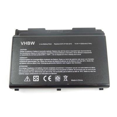 Clevo 6-87-X710S-4271, 6-87-X710S-4272, 6-87-X710S-4J7, 6-87-X710S-4J72 utángyártott laptop akkumulátor akku - 5200mAh (14.8V) fekete