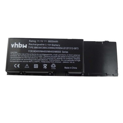 Dell Precision M2400 / M4400 / M6400 / M6500 05K145 utángyártott laptop akkumulátor akku - 6600mAh (11.1V) fekete