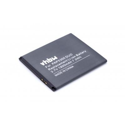Prestigio PAP5300 DUO, PAP5300DUO  utángyártott mobiltelefon li-ion akku akkumulátor - 1900mAh (3.7V)