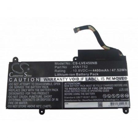Lenovo ThinkPad E450 stb. kompatibilis utángyártott 4400 mAh notebook akkumulátor