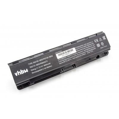 Toshiba PA5108, PA5109, PA5110 utángyártott laptop akkumulátor akku - 6600mAh (10.8V) fekete