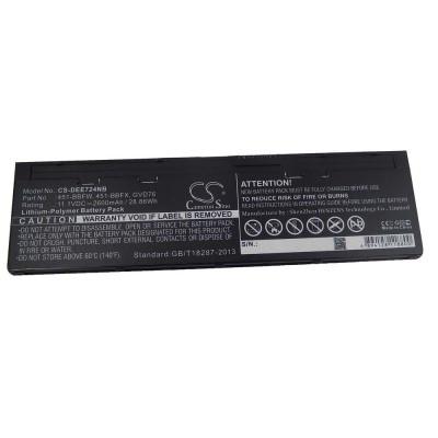 Dell 451-BBFW, 451-BBFX Latitude E7240 / E7250 / 12 7000  utángyártott laptop akkumulátor akku - 2600mAh (11.1V) fekete