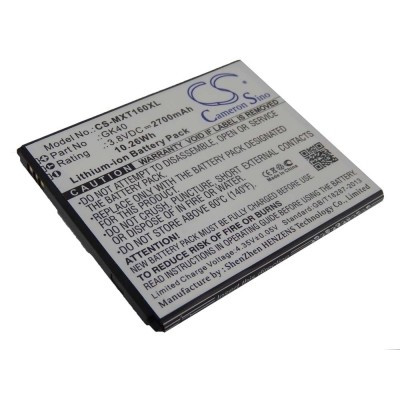 Motorola GK40 utángyártott mobiltelefon li-ion akku akkumulátor - 2700mAh (3.8V)