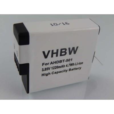 GoPro AHDBT-501 videókamera utángyártott li-ion akku akkumulátor - 1220mAh (3.85V)