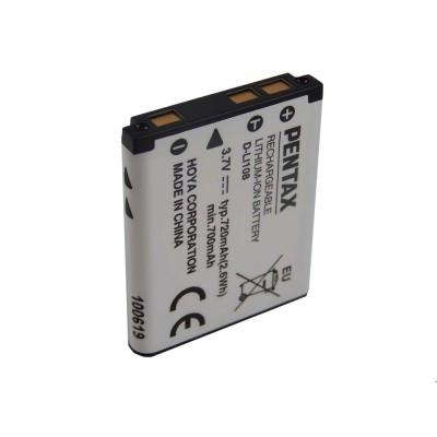 Pentax D-Li108, D-Li63 utángyártott digitális fényképezőgép akkumulátor akku 720mAh (3.7V)