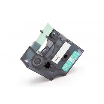 Dymo 1805420 19mm * 5.5m zöld alapon fehér vinyl ellenálló ipari utángyártott feliratozószalag-kazetta