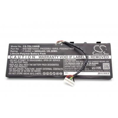 Toshiba PA5209U-1BRS utángyártott laptop akkumulátor akku - 3650mAh (7.2V) fekete