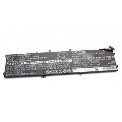 Dell 01P6KD utángyártott laptop akkumulátor akku - 7300mAh (11.4V) fekete
