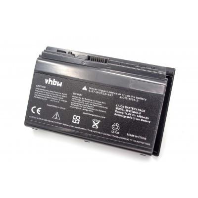 Clevo 6-87-W370S-427, HSTNN-IB5T utángyártott laptop akkumulátor akku - 4400mAh (14.8V) fekete