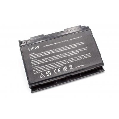 Clevo P150HMBAT-8 X510 / X510S utángyártott laptop akkumulátor akku - 5200mAh (14.4V) fekete