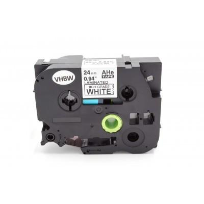Brother HGE-251 24mm * 8mm fehér alapon fekete utángyártott ipari extra ellenálló feliratozószalag kazetta