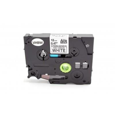 Brother HGE-S231 12mm * 8mm fehér alapon fekete utángyártott ipari extra ellenálló biztonsági feliratozószalag kazetta