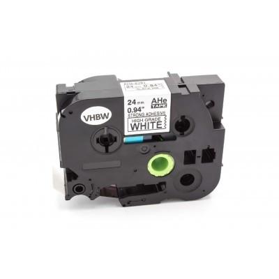 Brother HGE-S251 24mm * 8mm fehér alapon fekete utángyártott ipari extra ellenálló biztonsági feliratozószalag-kazetta