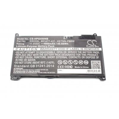 HP HSTNN-PB6W ProBook 430 G4 / 440 G4 / 450 G4 / 455 G4 / 470 G4 utángyártott laptop akkumulátor akku - 4000mAh (11.4V) fekete