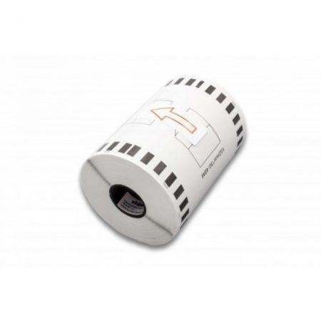 Brother DK-22243 utángyártott öntapadós fehér etikett papírszalag 102 mm széles 30.48 m hosszú - tartó nélkül