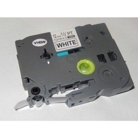 Brother P-Touch TZe-FX231 12mm*8m utángyártott fekete-fehér rugalmas laminált címkéző szalag