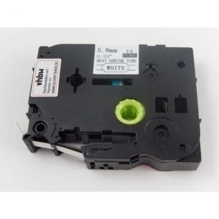 Brother HSE-211 utángyártott Zsugorcsöves Feliratozószalag Zsugorszalag 5.8mm*1.5m fekete betű fehér alapon