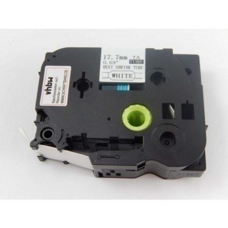Brother HSE-241 Zsugorcsöves Feliratozószalag Zsugorszalag 17.7mm mm*1.5m fekete betű fehér alapon