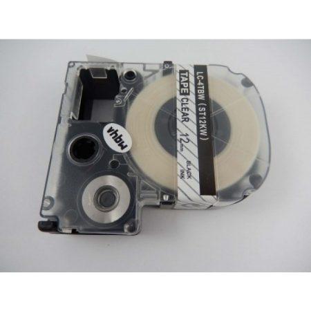 Epson LC-4TBW utángyártott feliratozószalag kazetta 12 mm * 8m transparent alapon black nyomtatás