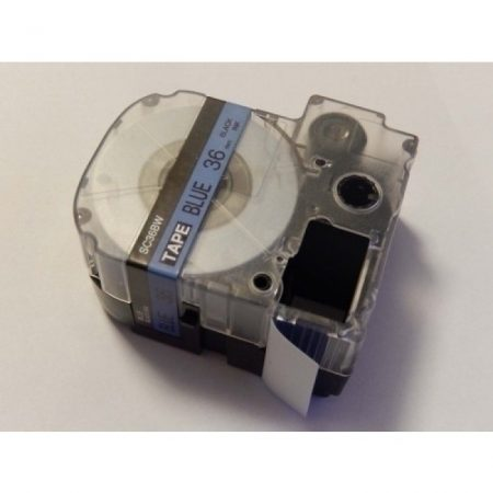 Epson LC-7LBP kék alapon fekete nyomtatás 36mm * 8m feliratozószalag kazetta