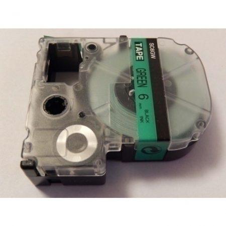 Epson LC-2GBP zöld alapon fekete 6mm * 8mm feliratozószalag kazetta