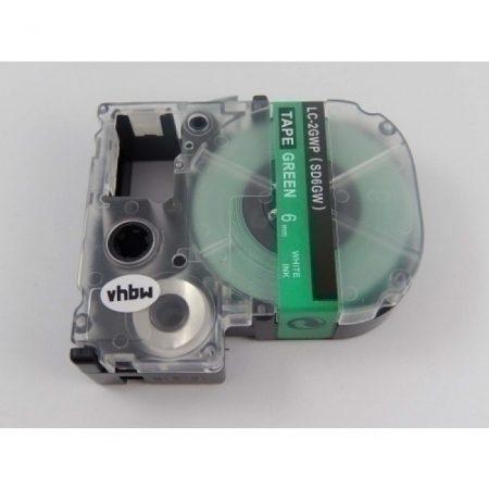 Epson LC-2GWP utángyártott feliratozószalag kazetta 6 mm * 8m zöld alapon fehér nyomtatás