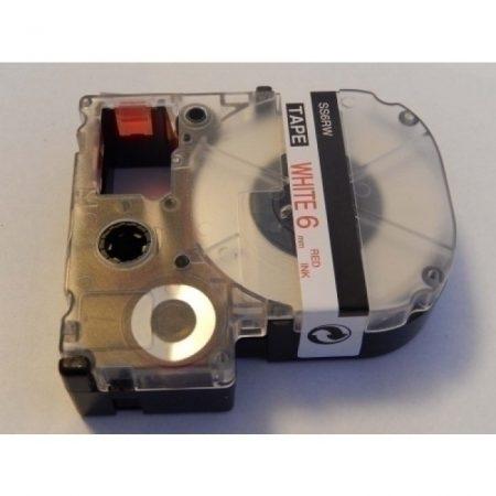Epson LC-2LBP utángyártott feliratozószalag kazetta 6mm piros-fehér