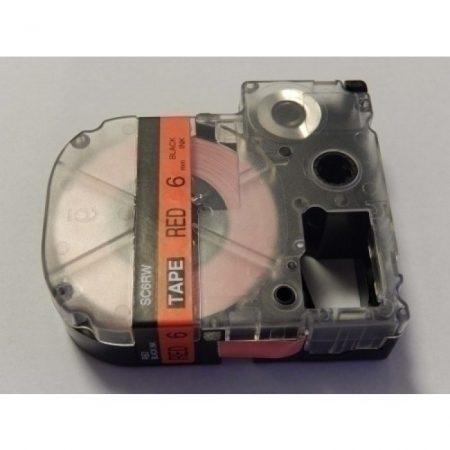 Epson LC-2RBP 6mm*8m piros alapon fekete utángyártott feliratozószalag