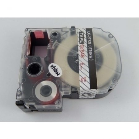 Epson LC-2TRN utángyártott feliratozószalag kazetta 6 mm * 8m átltátszó alapon piros nyomtatás