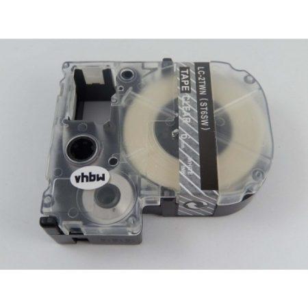 Epson LC-2TWN utángyártott feliratozószalag kazetta 6 mm * 8m átlátszó alapon fehér nyomtatás