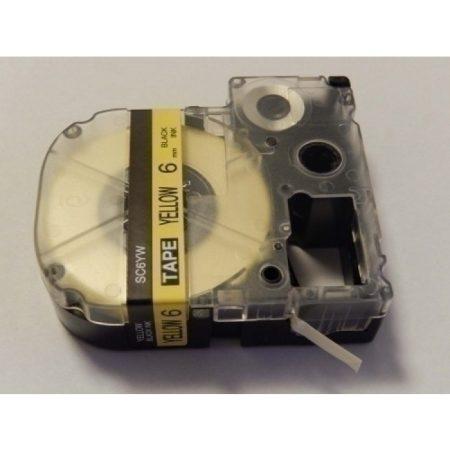 Epson LC-2YBW Utángyártott címkézőszalag 6mm sárga alapon fekete