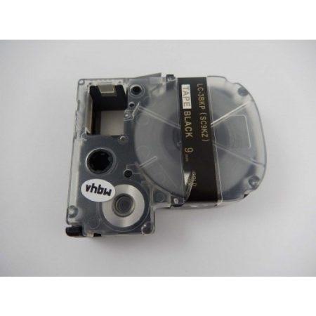 Epson LC-3BKP utángyártott feliratozószalag kazetta 9 mm * 8m fekete alapon arany nyomtatás