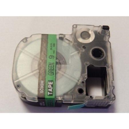 Epson LC-3GBP Zöld alapon Fekete feliratozószalag 9mm*8m